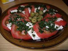 Carpaccio z mozzarelli i pomidorów