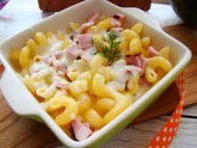 Cavatappi z serem i szynką
