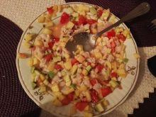 Ceviche z dorsza z owocami (mango, kiwi, ananas)