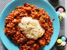 Chili Con Carne z białą fasolą