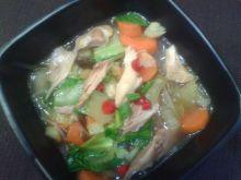 Chińska zupa pak choi