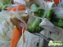 Chiński makaron z mięsem
