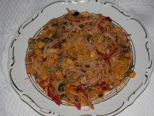Chińskie danie z makaronem
