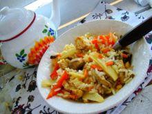 Chińszczyzna -warzywa z ryżem