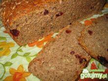 Chleb na zakwasie z żurawiną (z prodiża)