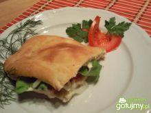 Chlebek pita z nadzieniem wegetariańskim