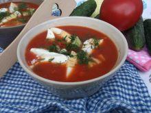 Chłodnik na soku pomidorowym z jajkiem