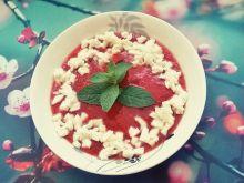 Chłodnik pomidorowo - paprykowy z mozzarellą