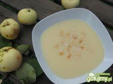 Chłodnik z jabłek z migdałami