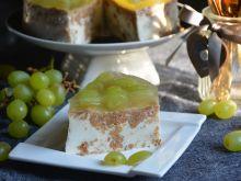 Chrupiący sernik winogronowy na zimno