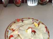 Chrzanowa sałatka z jajek,kalafiora i pomidora
