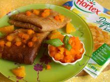 Chutney dyniowo-pomarańczowy z naleśnikami orkisz