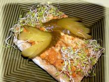 Ciabata żytnia zapiekana z rybą wędzoną