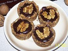Ciasteczka a'la babeczki z czekoladowym ganache