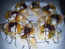 Ciasteczka biszkoptowe z brzoskwiniami