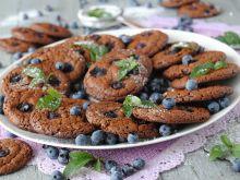 Ciasteczka brownies z borówkami
