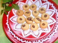Ciasteczka chałwowe z czekoladą