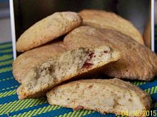 Ciasteczka cynamonowe z suszonymi malinami