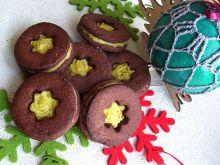 Ciasteczka czekoladowo-piernikowe z orange curd