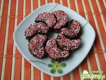 Ciasteczka czekoladowo-piernikowe z różą