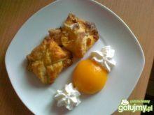 Ciasteczka francuskie z brzoskwinką