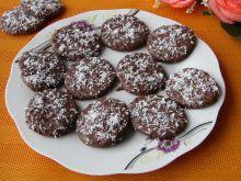 Ciasteczka kakaowe w polewie czekoladowej