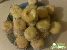 Ciasteczka migdałowe z kokosem i marmol