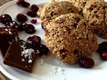 Ciasteczka owsiane z żurawiną, czekoladą i kokosem