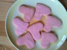 Ciasteczka- różowe serduszka