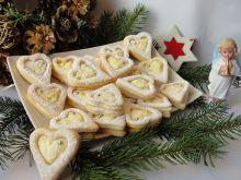 Ciasteczka świąteczne z kremem karpatkowym