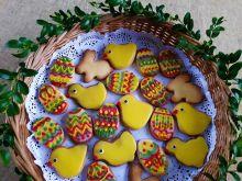 Ciasteczka wielkanocne - pisanki i kurczaczki