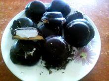 Ciasteczka z bitą śmietaną w czekoladzie ciemnej