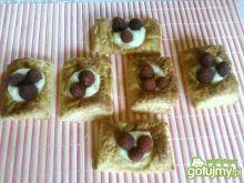 Ciasteczka z budyniem i malinami.