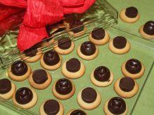 Ciasteczka z czekoladową dekoracją