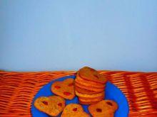 Ciasteczka z kawą zbożową i z jagodami goji