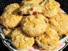 Ciasteczka z kokosem i płatkami kukurydzianymi