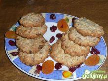 Ciasteczka z suszoną morelą i żurawiną