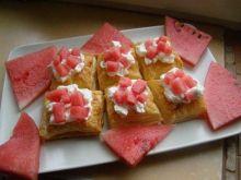 Ciastka francuskie z arbuzem
