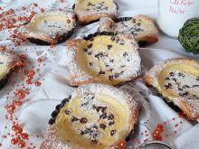 Ciastka francuskie z serkiem i czekoladą