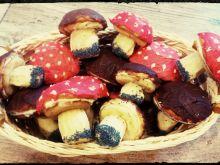 Ciastka grzybki i muchomorki