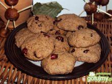 Ciastka kakaowe z suszoną żurawiną