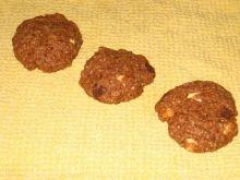 Ciastka owsiane z czekolada i orzechami