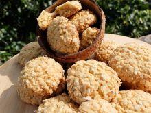 Ciastka owsiano-kokosowe z masłem orzechowym