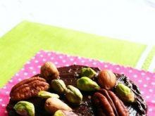 Ciastka ryżowo-orzechowe z czekoladą