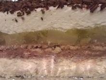 Ciasto 3 bit z gruszkami i galaretką