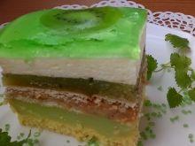 Ciasto 3 bit z musem z kiwi