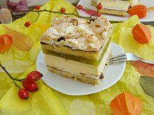 Ciasto bakaliowe z kremem i masą jabłkową