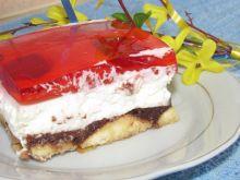 Ciasto bez pieczenia z kremem migdałowym