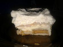 Ciasto bez pieczenia z krówką i kremem budyniowym