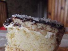 Ciasto biało-czarne z kremem